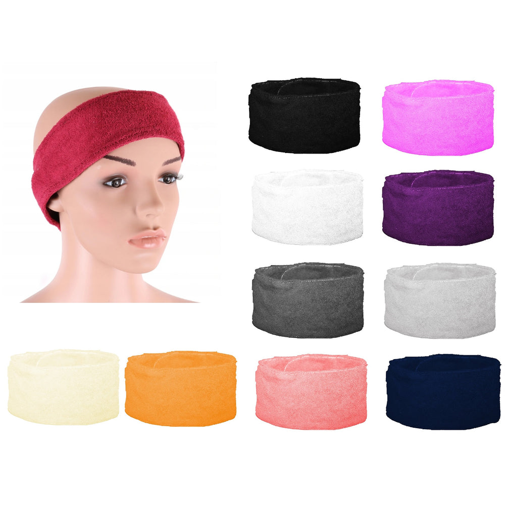 Cosmetic head & hair band for procedures terryclotch, DIFFERENT COLORS
