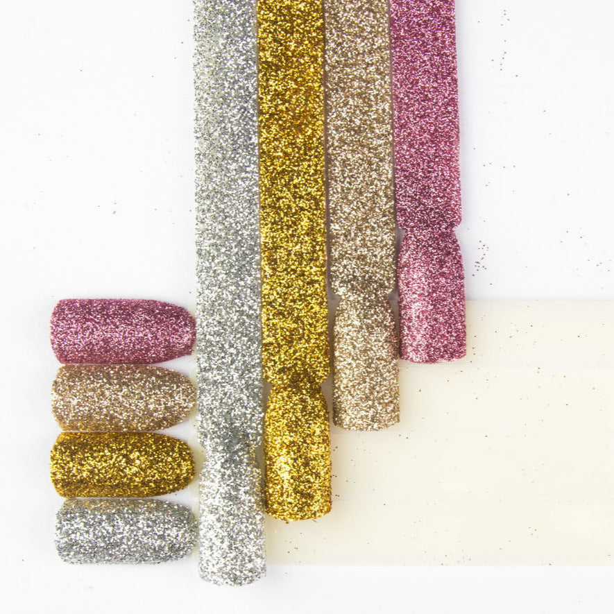 Nail Design glitters in 5 g pot - gold, champagne, silver or rose