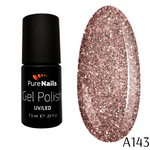 BIS Pure Nails UV/LED gel nail polish 7.5 ml, PARTY GLITTER A143