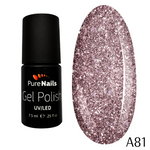 BIS Pure Nails UV/LED gel nail polish 7.5 ml, VINTAGE GLITTER A81