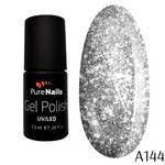 BIS Pure Nails UV/LED gel nail polish 7.5 ml, HOLOGRAPHIC SILVER A144