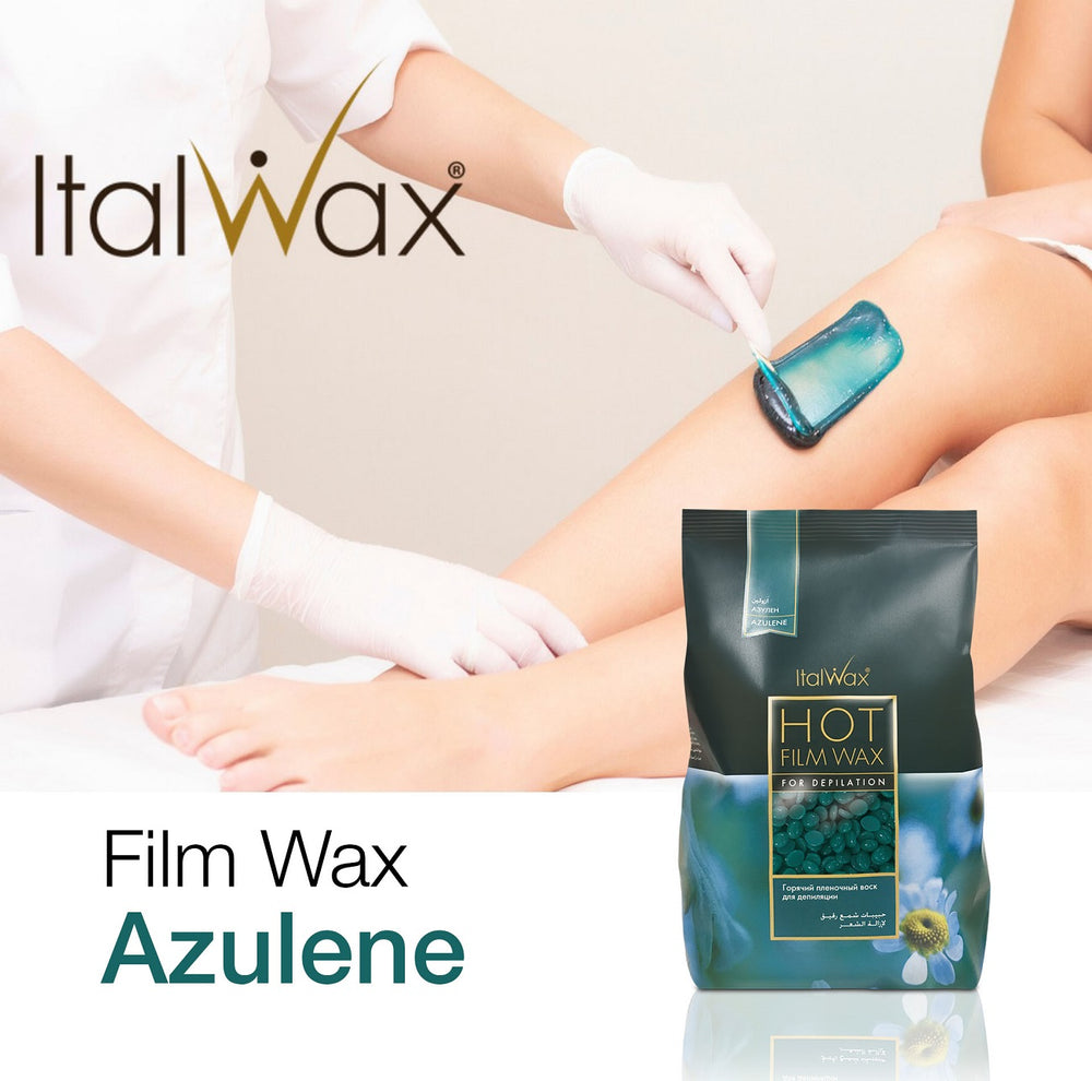 ItalWax hot film WAX in granules for depilation AZULENE, 100/500/1000g