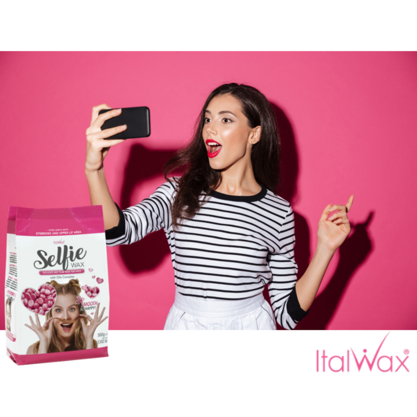 ItalWax hot film WAX in granules for delicate FACE depilation Selfie, 500 grams