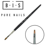 BIS Pure Nails Kolinsky PRO narrow square nail brush PN001