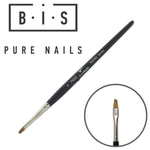 BIS Pure Nails Kolinsky PRO nail brush French restangular PN002