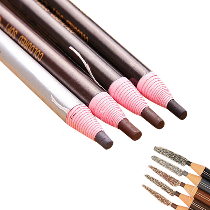 Waterproof Eyebrow makeup pencils self sharpening, 5 different tones
