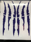 Claw Decal Monster Claws Scratch Decal etc (Various colors avail)