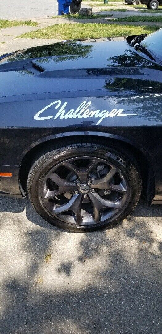 Dodge Challenger mopar hemi Side Graphics Hash Mark Srt