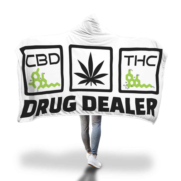 DRUG DEALER - Hooded Blanket - CBD - THC - HTBADD