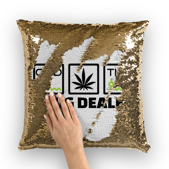 DRUG DEALER - Sequin Cushion Cover - CBD - THC
