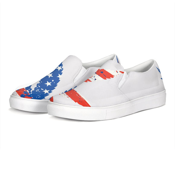 American Cannabis Slip-On Canvas Shoe