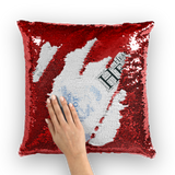 Heal The World Bong Sequin Cushion Cover