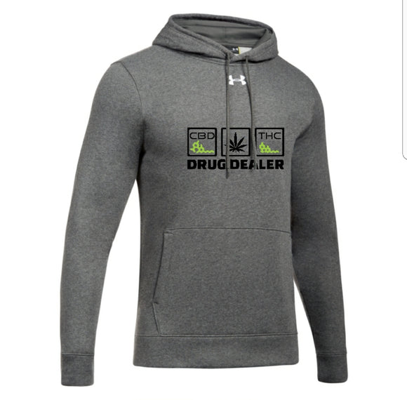 UA MENS HUSTLE FLEECE HOODY - DRUG DEALER - CBD - THC - HTBADD