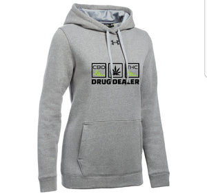 UA WOMEN'S HUSTLE FLEECE HOODY - DRUG DEALER - THC - CBD - HTBADD