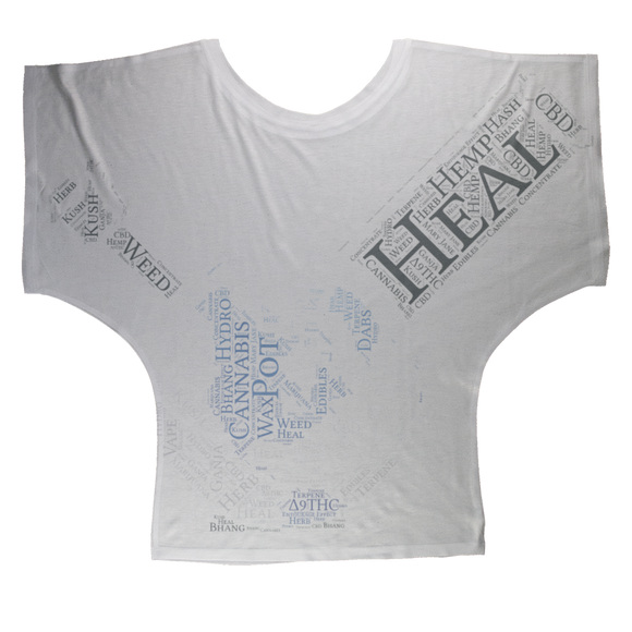 Heal The World Bong Sublimation Batwing Top
