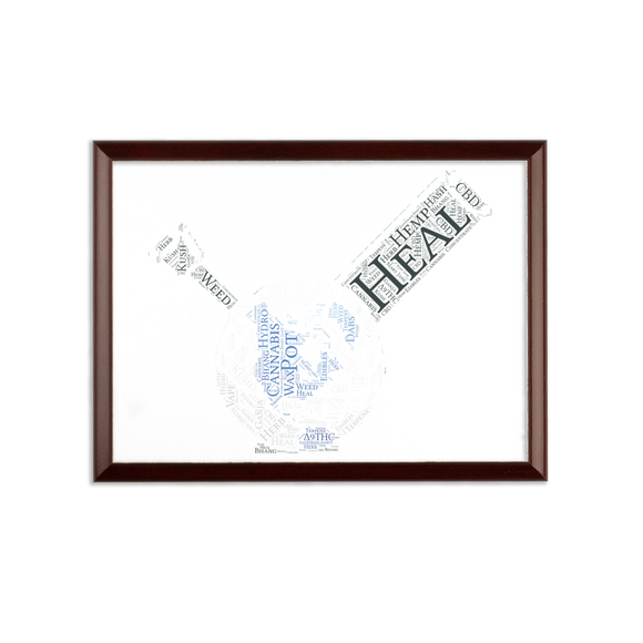 Heal The World Bong Sublimation Wall Plaque