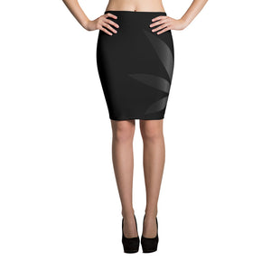 MUTED LEAF - Pencil Skirt