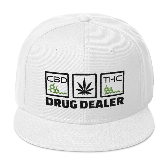 DRUG DEALER Snapback Hat - CBD - THC - Dispensary Clothes