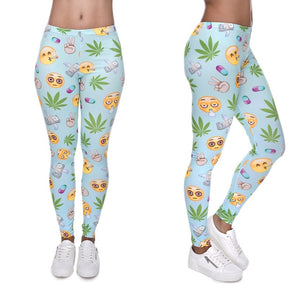 Cannabis Emoji Leggings