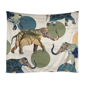 Psychedelic -  Elephant World Tapestry