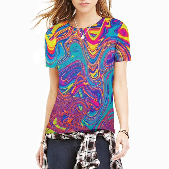 Cool Tees - Psychedelic Oil Spill 2 T-Shirt