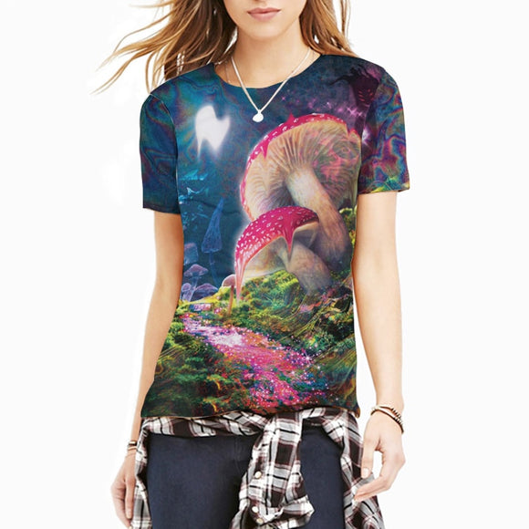 Cool Tees - Bad Trip = A Psychedelic Vision Of Melting Mushrooms T-Shirt