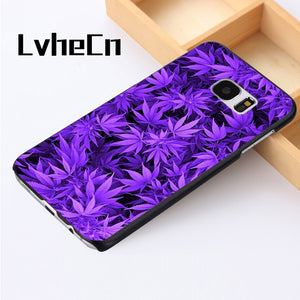 Phone case cover For Samsung Galaxy S3 S4 S5 mini S6 S7 S8 edge plus Note2 3 4 5 7 8 Weed Cannabis Marijuana UV Lights