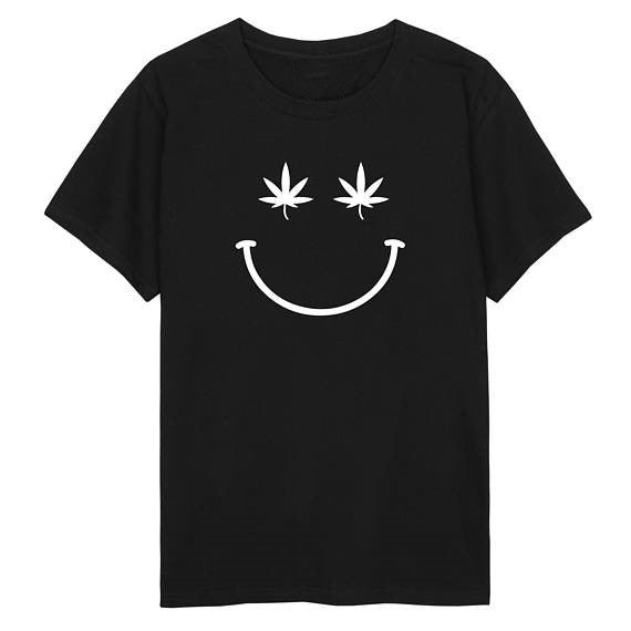 Smiley Cannabis T