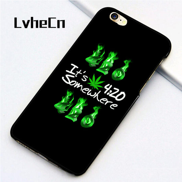 5 5S SE phone cover cases for iphone 6 6S 7 8 Plus X back skin shell WEEDCANNABIS420 MARIJUANA MARY JANE