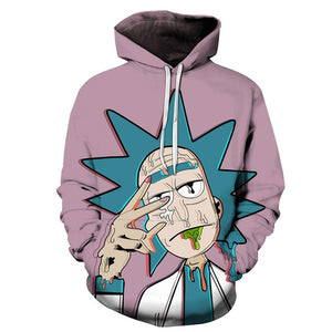Rick and Morty Hoodie - 3D Rick Peace