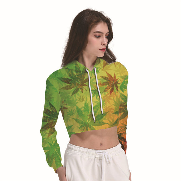 Womens Cannabis Crop Hoodie + Others