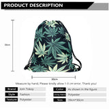 3D Cannabis Drawstring Backpack