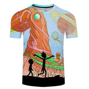 Rick and Morty Short Sleeve O-neck Tee - Look Morty