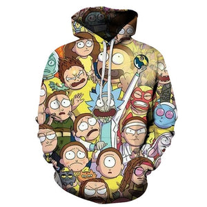 Rick and Morty Hoodie - Morty Crowd