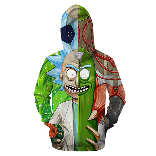 Rick and Morty Hoodie - Two Face Rick