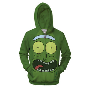 Rick and Morty Hoodie - Happy Pickle Rick