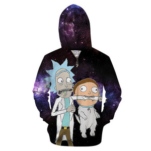 "Rick and Morty Hoodie - Rick ""WTF!"""
