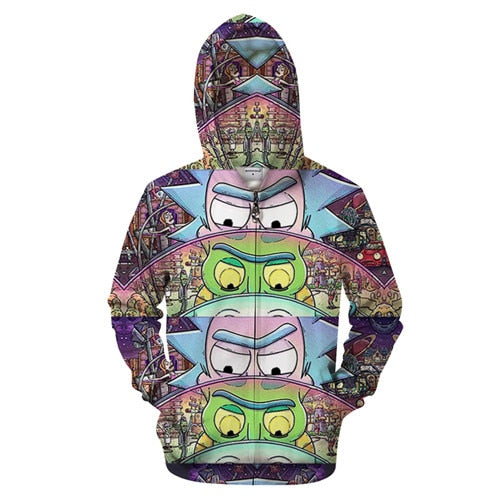 Rick and Morty Hoodie - Worlds Within Batteries