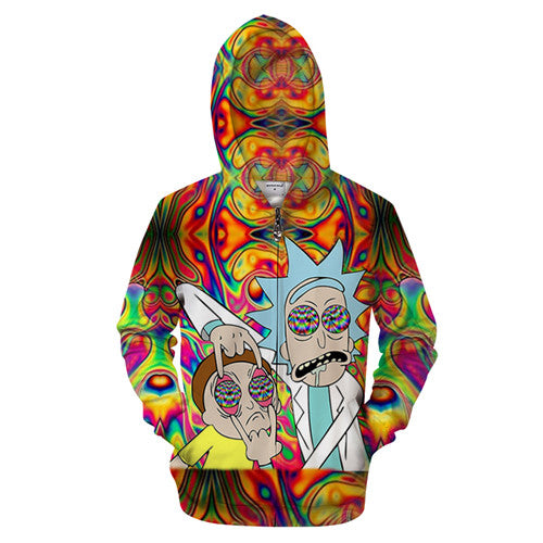 Rick and Morty Hoodie - Tie Dye Hypnosis