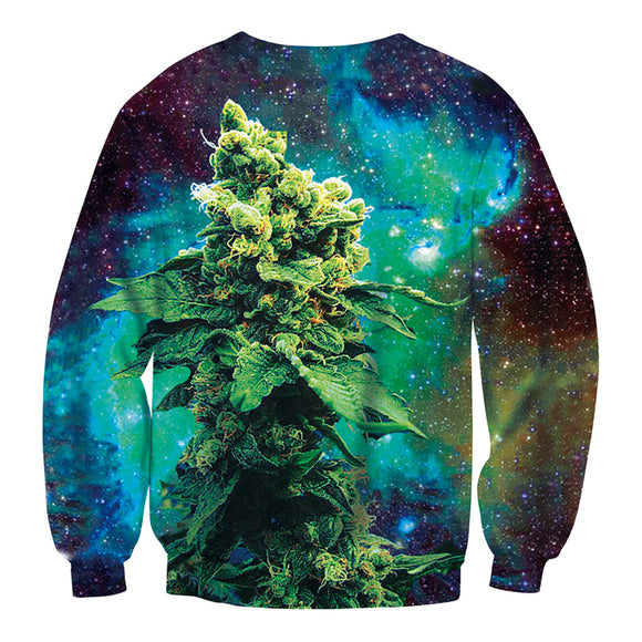 3D Cannabis Galaxy Sweatshirt UNISEX