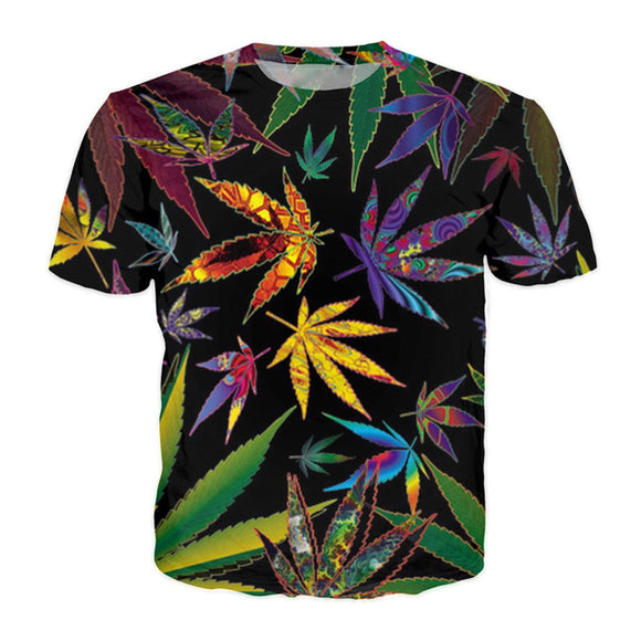 3D Cannabis Leaf T Shirts