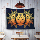 Psychedelic - Moon Sun Galaxy Celestial Energy Tapestry