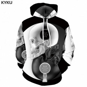 Psychedelic Hoodies - Yin-Yang Skull With Headphones