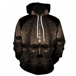 Psychedelic Hoodies - Face Of Roots