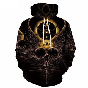 Psychedelic Hoodies - Eclipse Over Skull