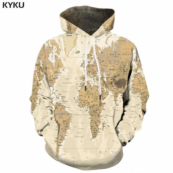 Psychedelic Hoodies - World Map