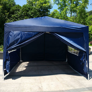 10'x 10' 4 WALLS Indoor/Outdoor Folding Canopy Tent