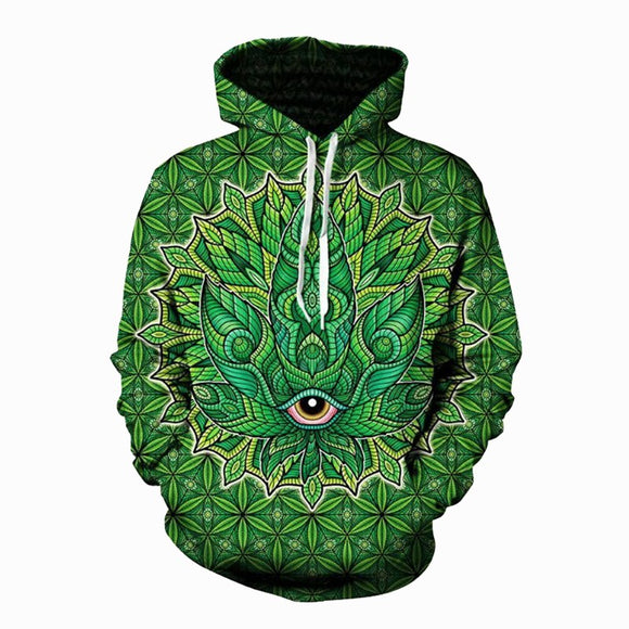 3D Psychedelic Cannabis Hoodie UNISEX