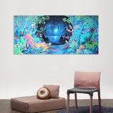Psychedelic - Magic Mushroom Silk Poster