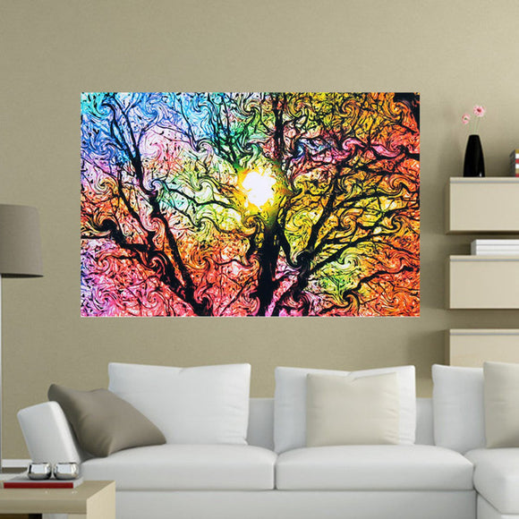 Psychedelic - Trippy Tree Abstract Silk Poster